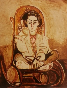 PICASSO Jacqueline in a Rocking Chair, 1954.