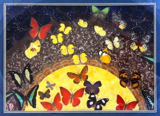 「君既為儂死,獨生為誰施,歡若見憐時,棺木為儂開。」 每看此詩,總令我想起梁祝…. 節錄《樂府詩集》〈華山畿二十五首〉句子。 蝶翅畫 | JCR Collections
